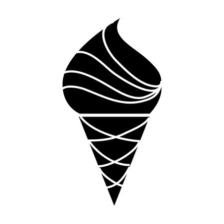 yummy ice cream cone vector illustration graphic design