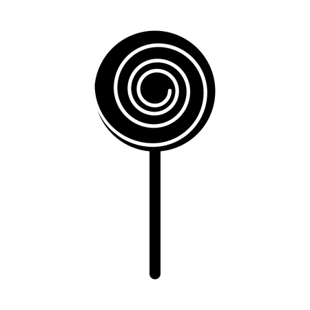 isolated lollipop candy on stick vector illustration graphic design Иллюстрация