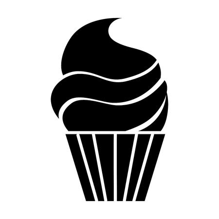 孤立したカップケーキ アイコン ベクトル イラスト グラフィック デザイン  イラスト・ベクター素材