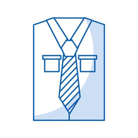 Mannen shirt met lange mouwen met stropdas vector illustratie grafisch ontwerp