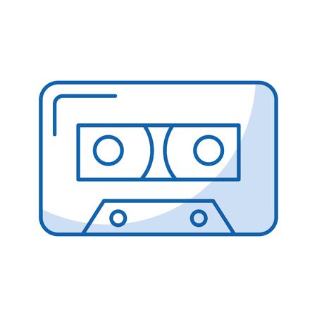 isolated audio cassette tape vector illustration