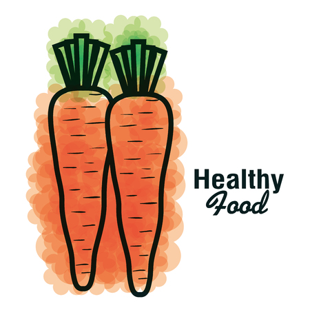Colorful carrots design with healthy food sign. Vector illustration.
