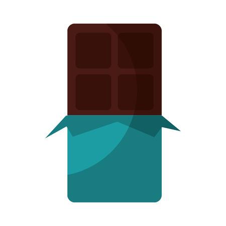 Barra di cioccolato moderno minimal piatto illustrazione vettoriale design Archivio Fotografico - 78351924