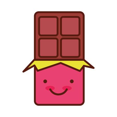 cute chocolate bar modern minimal flat design vector illustration Ilustrace