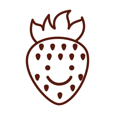cute sweet strawberry fruit vector illustration graphic design