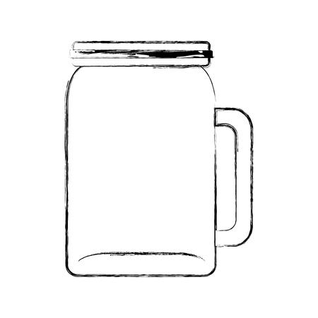glass jar picher for drinks vector illustration graphic design