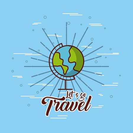 travel related emblem image vector illustration design
