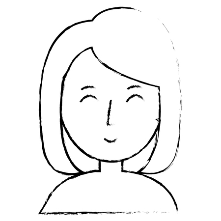Jeune femme avatar avatar caractère conception vecteur illustration Banque d'images - 78352665