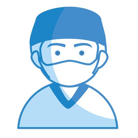 남성 외과 의사 아바타 캐릭터 벡터 일러스트 레이션 디자인 일러스트