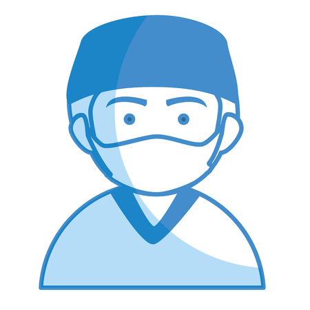 Male surgeon avatar character vector illustration design