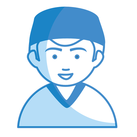 mature adult: Male surgeon avatar character vector illustration design
