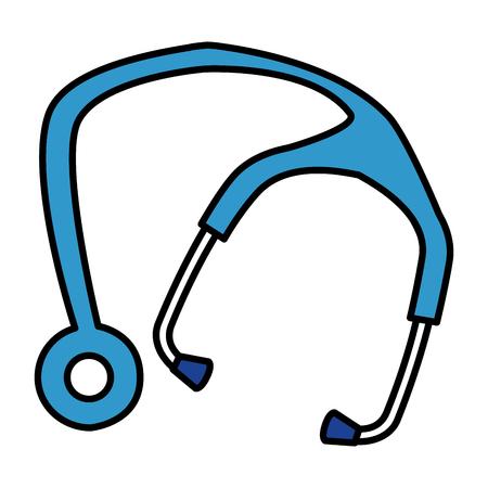 stethoscope medical isolated icon vector illustration design Illustration
