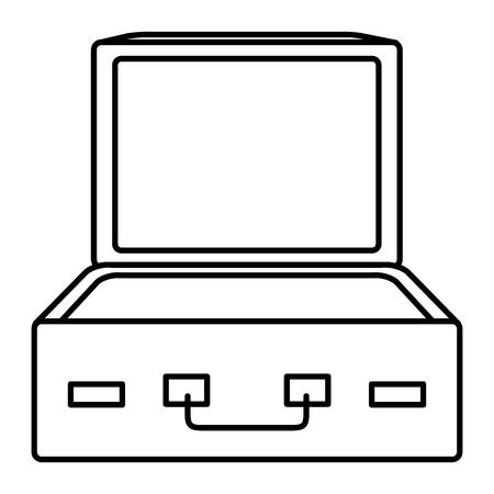 koffer reis open geïsoleerd pictogram vector illustratie ontwerp Stock Illustratie