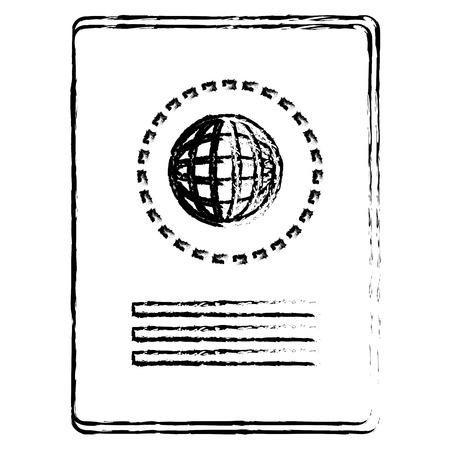 passport document isolated icon vector illustration design Stock Vector - 78355917