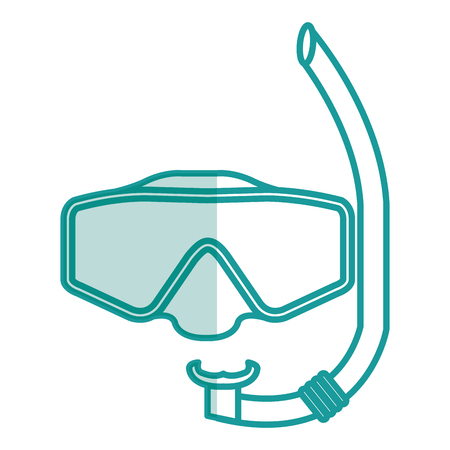 swimming glasses: snorkels isolated icon vector illustration design