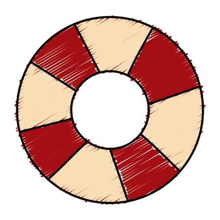 Schwimmer Rettungsschwimmer isoliert Symbol Vektor-Illustration , Design , Standard-Bild - 78355956