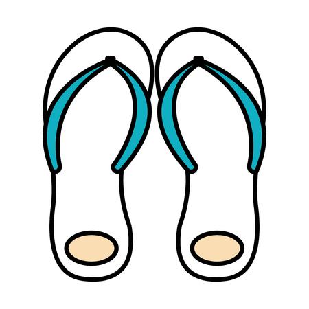 flip flops isolated icon vector illustration design Stock Vector - 78356138