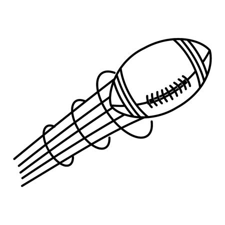 american football balloon icon vector illustration design