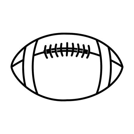 アメリカン フットボールのバルーン アイコン ベクトル イラスト デザイン