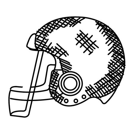 american football helmet icon vector illustration design