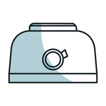 Broodrooster geïsoleerd pictogram vector illustratie ontwerp Stock Illustratie