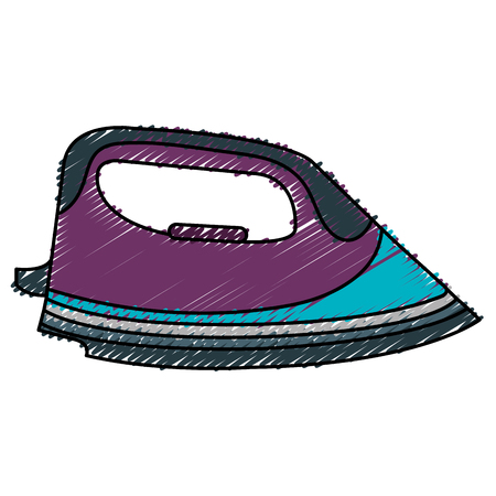 iron clothes isolated icon vector illustration design