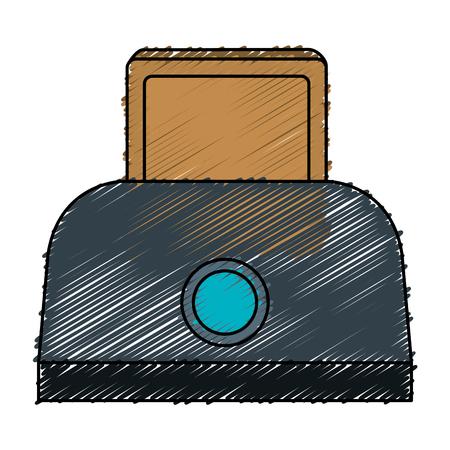 bread toaster isolated icon vector illustration design Illustration