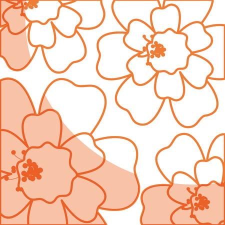 tropical flower decorative pattern vector illustration design Illustration