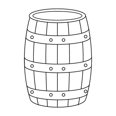Barile di vino isolato icona illustrazione vettoriale illustrazione