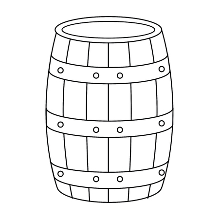 wine barrel isolated icon vector illustration design Ilustrace