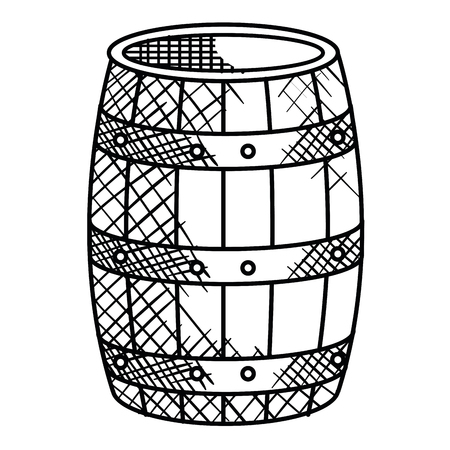 Diseño aislado del ejemplo del vector del icono del barril de vino Foto de archivo - 78358098
