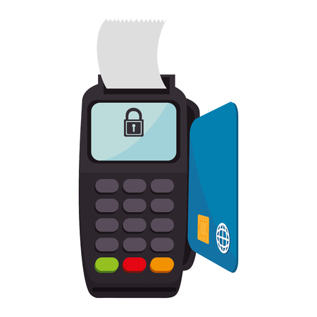 paying: voucher machine isolated icon vector illustration design Illustration