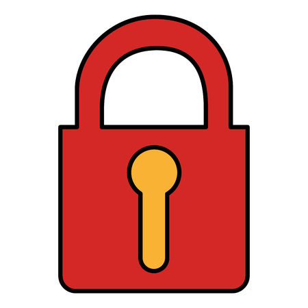 safe padlock isolated icon vector illustration design Stock Vector - 78358412