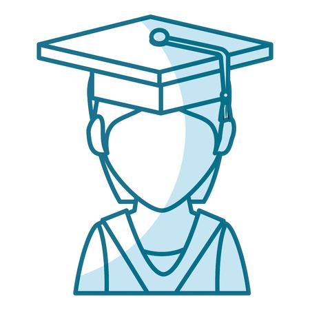 TUdiant diplômé isolé icône du design d & # 39 ; illustration vectorielle Banque d'images - 78358631