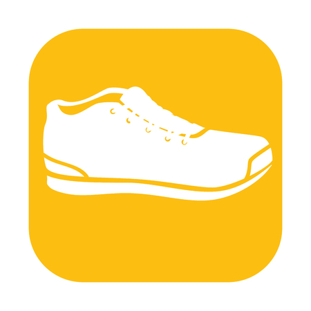 tennis shoes isolated icon vector illustration design