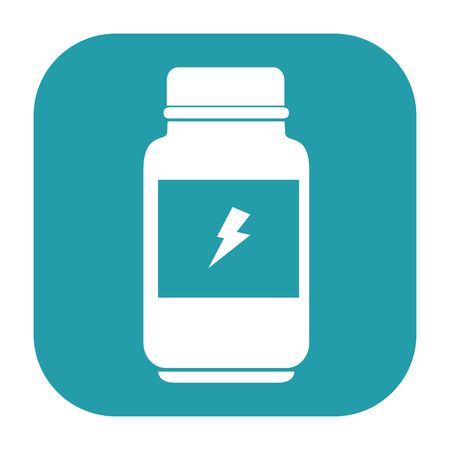 bottle energizing product icon vector illustration design