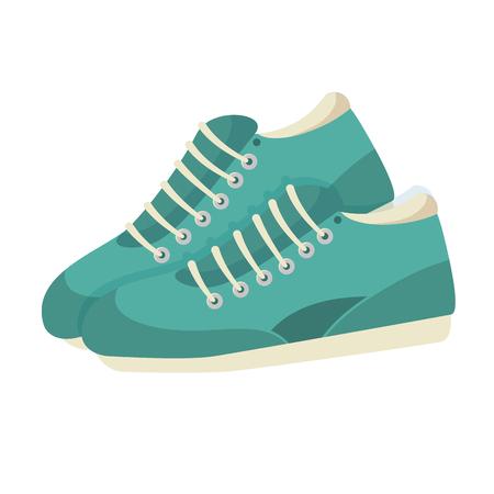 Tennisschoenen geïsoleerd pictogram vector illustratie ontwerp Stock Illustratie