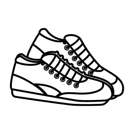 Tennisschoenen geïsoleerd pictogram vector illustratie ontwerp