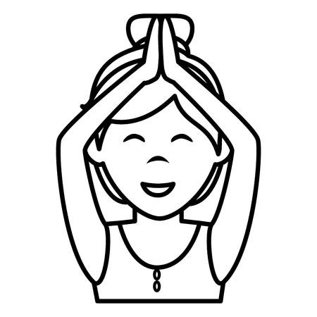 文字ベクトル イラスト デザインを行使運動の女性