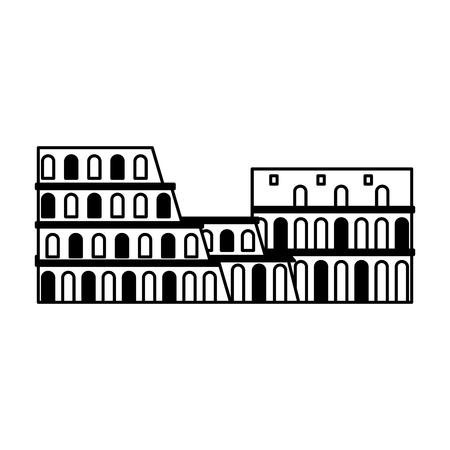italy colosseum landmark vector illustration graphic design