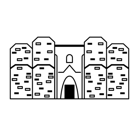 isolated italian building vector illustration graphic design