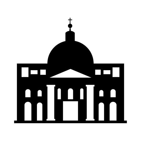 바티칸 시티 벡터 일러스트 그래픽 디자인의 세인트 피터 성당