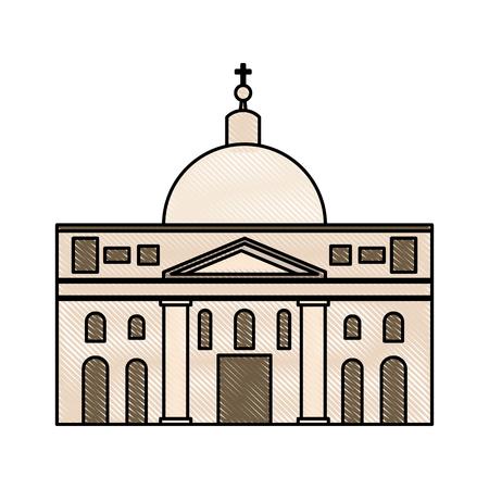 聖ペテロ大聖堂バチカン市国ベクトル イラスト グラフィック デザインで