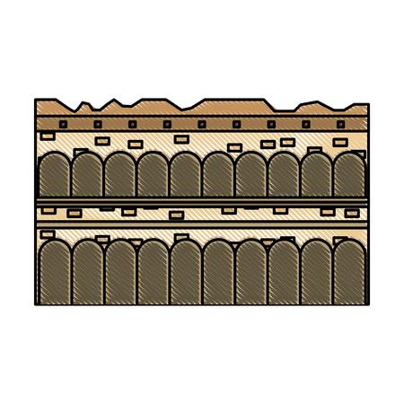 arena di verona italy landmark vector illustration graphic design