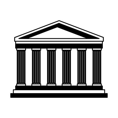 pantheon italy landmark vector illustration graphic design