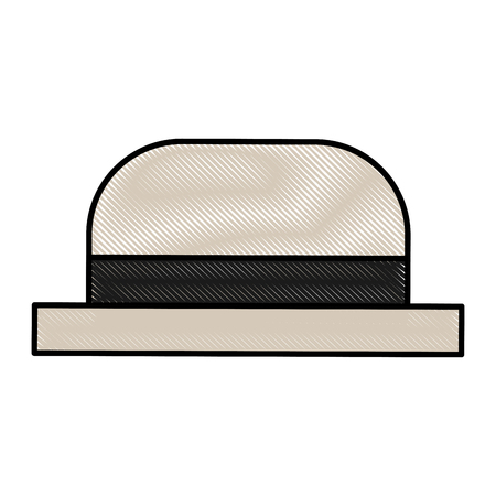 traditional hat of gondolier vector illustration graphic design