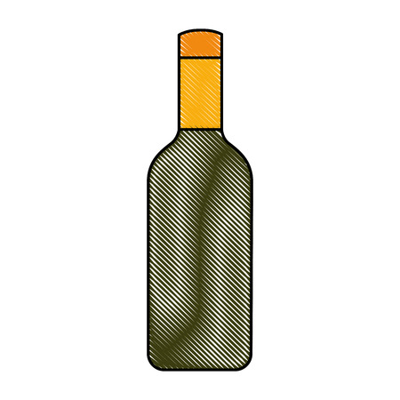 isolated bottle of wine vector illustration graphic design