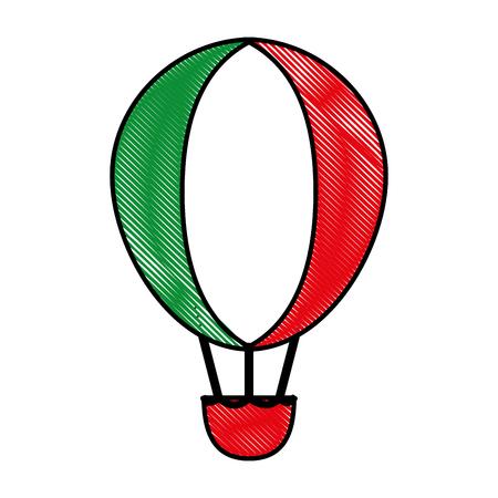 hot air ballon vector illustration graphic design Ilustração