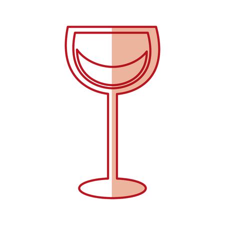 wine glass in trendy flat style vector illustration graphic design Illustration