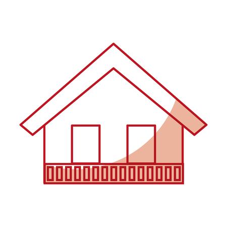 Italiaans huis icoon vector illustratie grafisch ontwerp Stock Illustratie